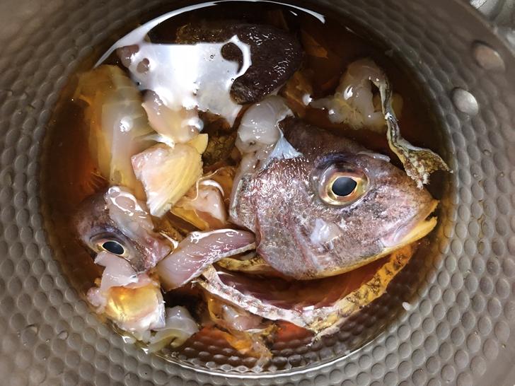 真鯛のかぶと煮レシピ工程2