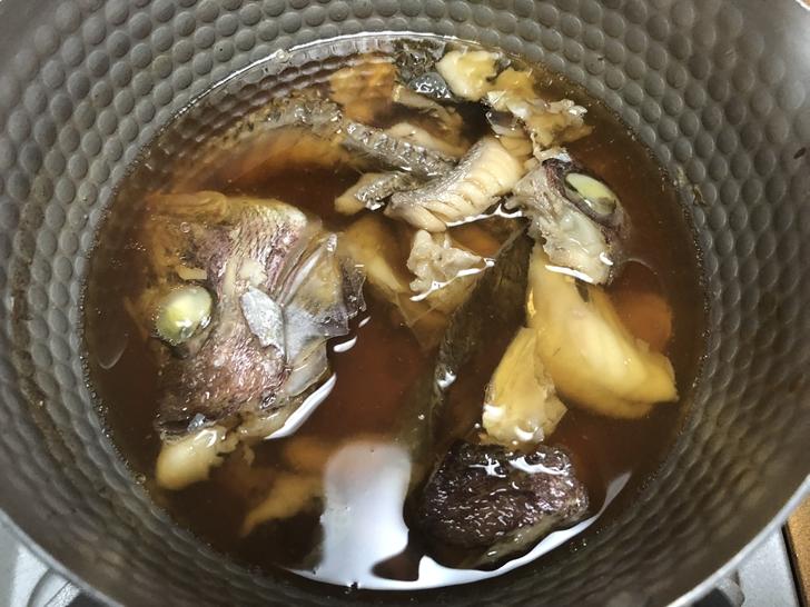 真鯛のかぶと煮レシピ工程4