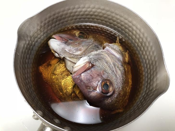 鯛の煮こごり作り方1