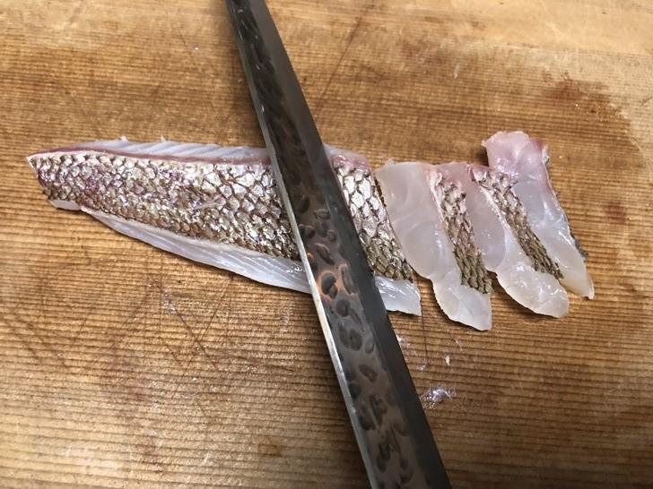 真鯛の皮霜作り8
