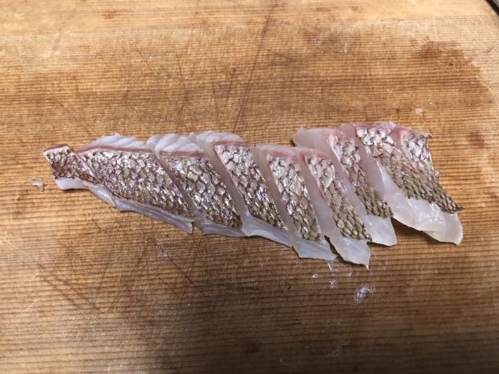 真鯛の皮霜作り10
