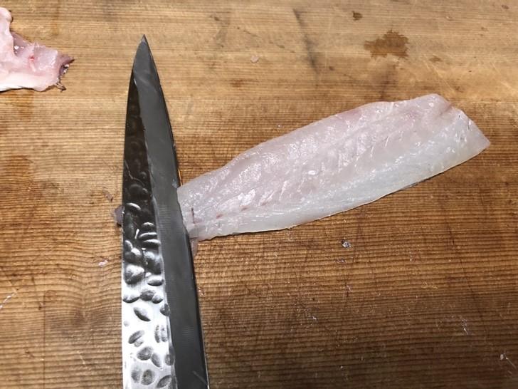 鯛皮の引き方1