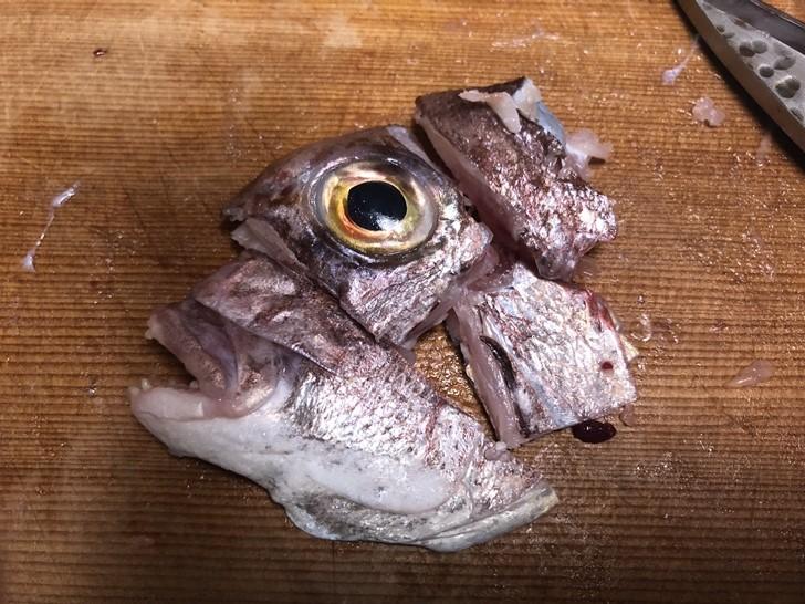鯛兜の捌き方2