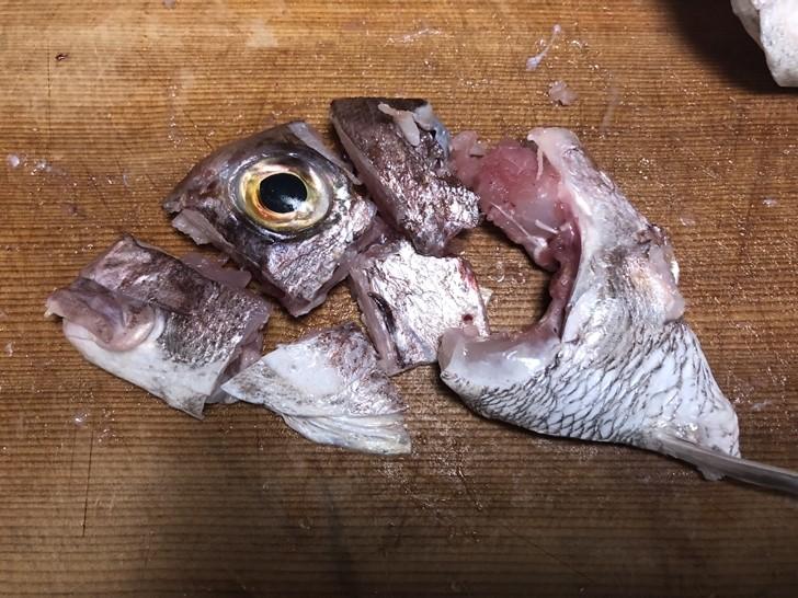 真鯛兜の捌き方3