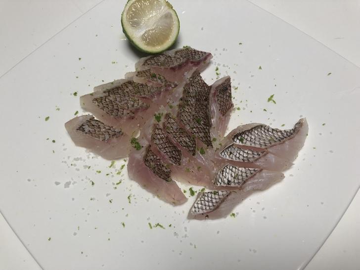 真鯛塩たたきとブシュカン
