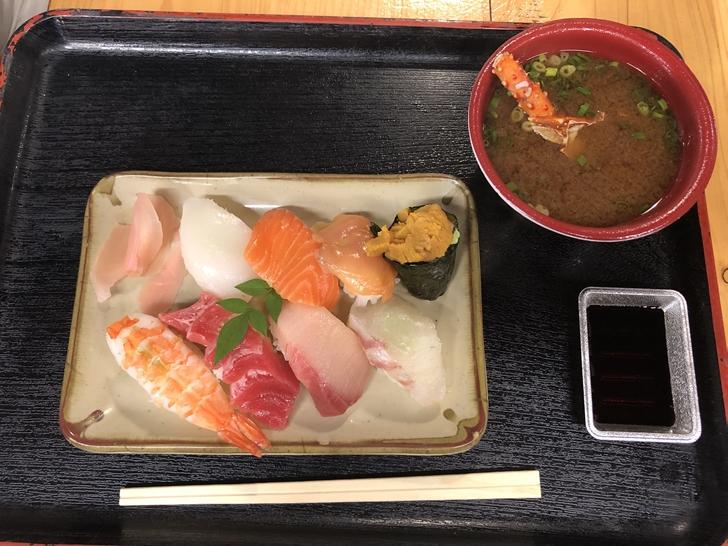 寿司と伊勢えび汁